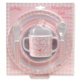 Jesus Loves Me Meal Set, Pink