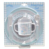 Jesus Loves Me Meal Set, Blue
