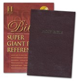 HCSB Super Giant Print Reference Bible, Bonded
