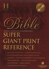 HCSB Super Giant Print Reference Bible, Bonded Leather,   burgundy Thumb-Indexed