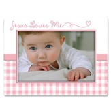Jesus Love Me Photo Frame, Pink