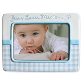 Jesus Love Me Photo Frame, Blue