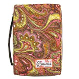 Glorious Quilted Bible Cover, Orange Tones, Medium