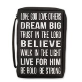 Love God, Love Others Bible Cover, Black, Medium