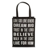 Love God, Love Others Tote, Black