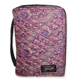 Faith Quilted Bible Cover, Purples Tones, Large