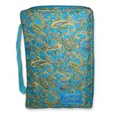 Grace Quilted Bible Cover, Blue Tones, Extra Large