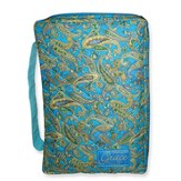 Grace Quilted Bible Cover, Blue Tones,. Large
