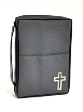 Bible Cover with Metal Cross, Medium