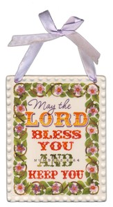 May the Lord Bless You and Keep You Plaque