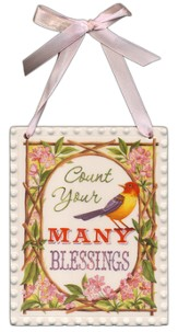 Count Your Many Blessings Plaque
