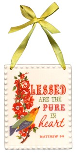 Blessed are the pure in heart, plaque