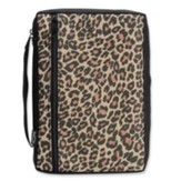 Leopard Bible Cover, Large