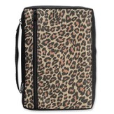 Leopard Bible Cover, Medium