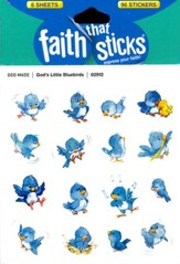 God's Little Bluebirds Stickers