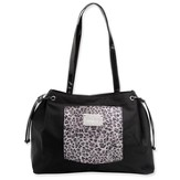 Tote with Inspirational Accent, Black and White