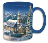Thomas Kinkade Church Yard Mug
