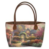 Rosebud Cottage Tote, Thomas Kinkade