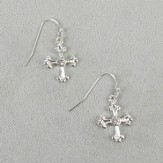 Hanging Crystal Cross Earrings