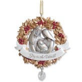 Holly Wreath with Holy Family, Legacy of Love Ornament