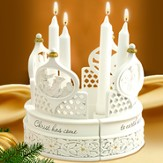 Christ Has Come to Earth Candle Centerpiece