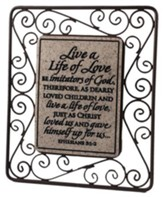 Live a Life of Love Plaque