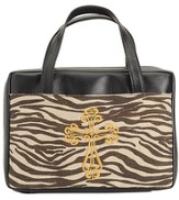 Zebra Bible Cover with Cross, X-Large