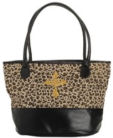 Leopard Tote Bag with Cross