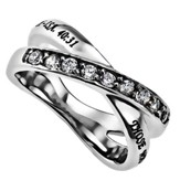 Strength Radiance Women's Ring, Size 8 (Isaiah 40:31)