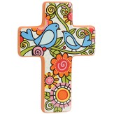 Birds and Floral Wall Cross