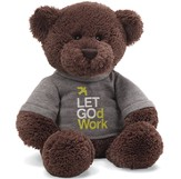 Let God Work T-Shirt Bear