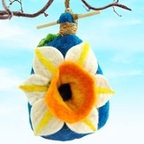 Felt Birdhouse Daffodil, Fair Trade Product