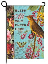 Bless All Who Enter Here Flag, Small