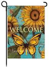 Welcome, Sunflowers Flag, Small