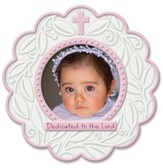 Dedicated To the Lord, Round Photo Frame, Pink