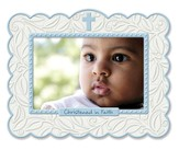 Christened In Faith Photo Frame, Blue