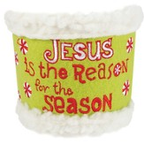 Jesus Is The Reason, Embroidered Felt Cup Cozy