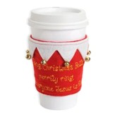 Christmas Bells, Jesus Is King, Embroidered Felt Cup Cozy