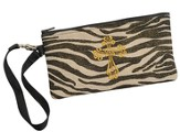 Zebra Wristlet with Cross
