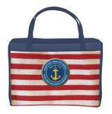 Nautical Striped Bible Cover, Large