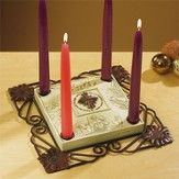 Star of Christmas Advent Candleholder