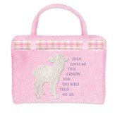 Jesus Loves Me, Lamb, Bible Cover, Pink