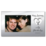 Happy Anniversary Photo Frame, Cross Charm