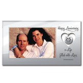 Happy Anniversary Photo Frame, 25 Years Charm