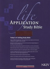 NKJV Life Application Study Bible, Bonded leather, Burgundy  - Imperfectly Imprinted Bibles