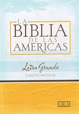 LBLA Biblia Letra Grande Tamano Manual, LBLA Hand Size Giant  Print Bible, Black Bonded Leather, Thumb-Indexed