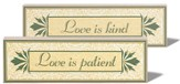 Love is Patient Love is Kind Reversible Plaque