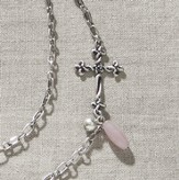 Celtic Cross Necklace, Rose