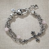 Celtic Cross Bracelet, Rose