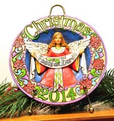 Peace On Earth, Christmas 2014 Plate with Easel
